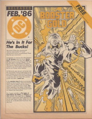 Booster Gold Preview – DC Releases February 1986 – a
