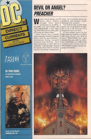 Preacher – DC Direct Currents #85 – a – SOLD 12-15-13