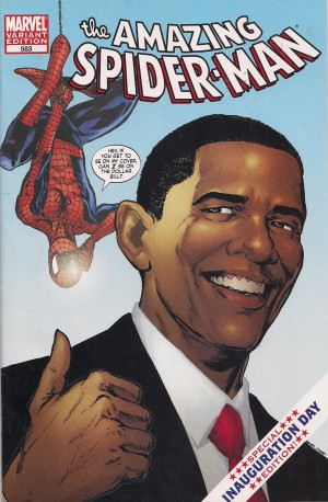 Spiderman 583b Obama Variant – a – SOLD 9-1-13