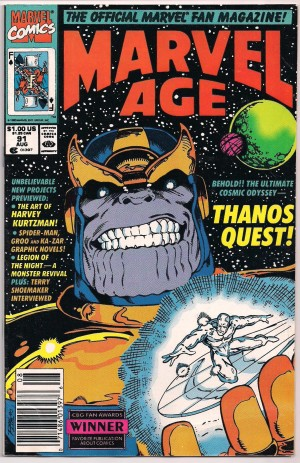 Thanos Quest Preview – Marvel Age #91 – a