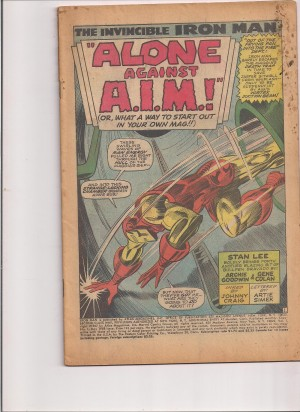 Iron Man 1968 #1 – coverless – a