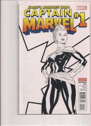 Captain Marvel 2012 #1 Sketch – a