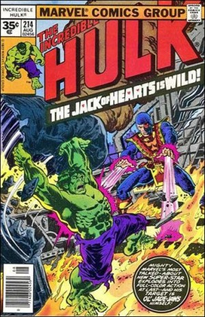 Incredible Hulk 1977 214 35cent cover