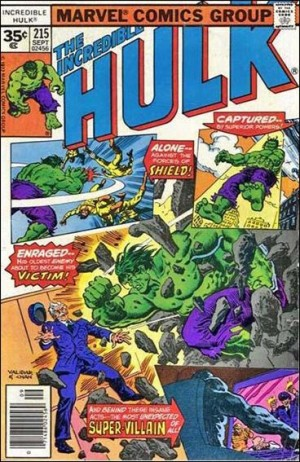 Incredible Hulk 1977 215 35cent cover