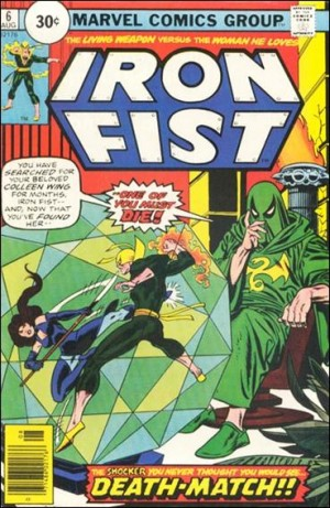 Iron Fist 1976 6 30cent cover