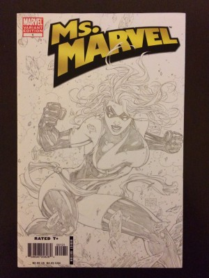 Ms Marvel 2006 #1 Sketch front – a
