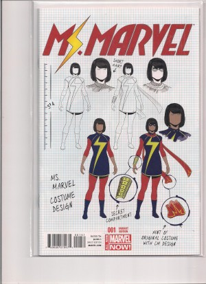 Ms Marvel 2014 #1 Variant – a