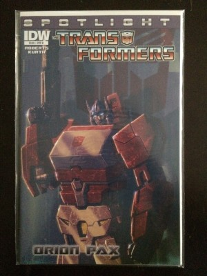 Transformers Spotlight Orion Pax #1 Variant – a