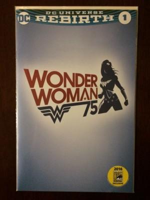 Wonder Woman 2016 #1 SDCC WB Logo Var – a